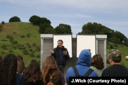 FILE: John Wick talks about carbon farming to a group of students at his Nicasio Native Grass Ranch in California..