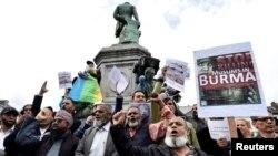 Manifestations contre le sort des Rohingyas en Birmanie, Bruxelles, Belgique, le 9 septembre 2017.