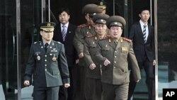 2011년 남북군사실무회담 당시 북한군 실무대표단. (자료사진)