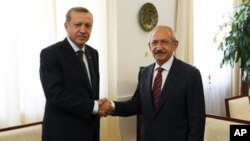 Erdogan û Kiliçdaroglu.