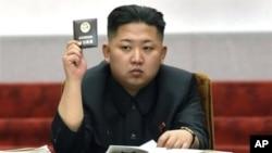 지난 4월 13일 북한 평양 만수대 의사당에서 열린 최고인민회의에 참석한 김정은 국방위 제1위원장.
