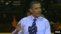 Barack Obama habló a los trabajadores de una planta de ensamblado de Chrysler en la ciudad de Toledo, Ohio.