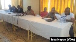 Conférence de Presse de l'OTRAF, au Burkina, le 14 février 2017. (VOA/Issa Napon)