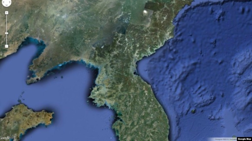 Google unveils detailed north korea map google interactive map of north korea gumiabroncs Image collections