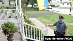 Фото: В передмісті Філадельфії, де проживає велика українська громада, українець працює поліцейським