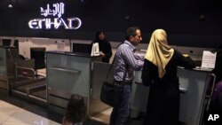 Kiểm tra an ninh tại sân bay quốc tế Abu Dhabi