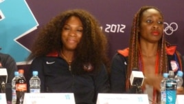 Venus (left) and Serena Williams Jul 26, 2012 (photo by Parke Brewer)