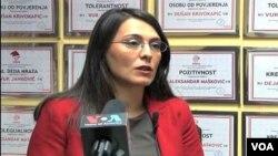 Izvršna direktorka Mreže za afirmaciju nevladinog sektora (MANS) Vanja Ćalović Marković