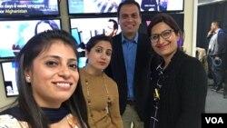 امریکہ کا دورہ کرنے والے پاکستانی صحافیوں کے گروپ کے چند ارکان۔