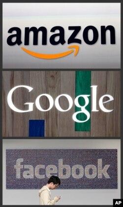 Google, Facebook dan Amazon telah menghadapi investigasi antimonopoli dan para CEO perusahaan teknologi secara rutin memberi kesaksian di Kongres. (Foto: ilustrasi).