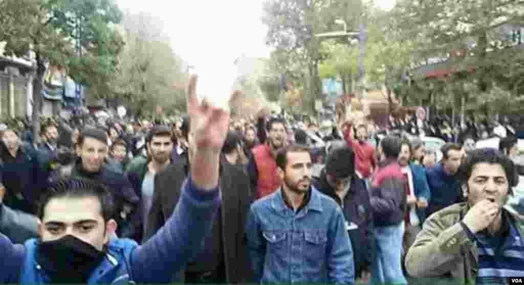 İran Azərbaycanı şəhərlərində kütləvi etirazlar - 9 noyabr 2015