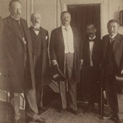 President Roosevelt with representatives of the Russian Czar and the Japanese Emperor