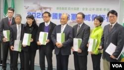台灣在野黨民進黨召開中國對台軍事威脅評估報告記者會(美國之音張永泰拍攝)
