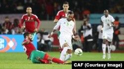 Lors du match Maroc-Mauritanie, remporté 4-0 par l'équipe marocaine, le 13 janvier 2018.