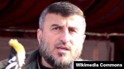 叙利亚最强大的反叛组织之一的领导人赫兰•阿鲁许 (资料照片)