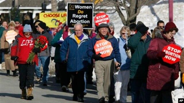 Abortga qarshi namoyish