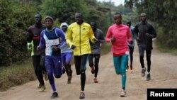 南蘇丹運動員正為2016年巴西奧運會練習