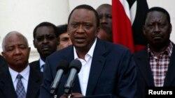 22일 윌리엄 루토 케나 부통령이 케냐의 수도 나이로비에서 발생한 쇼핑몰 테러 사건에 관련해 연설하고 있다.