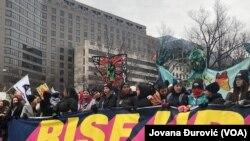 Четвертый Женский марш на улицах Вашингтона, 18 января 2020