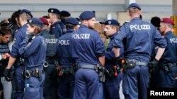 La police allemande, 5 septembre 2015.