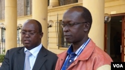 Defense attorney Kibe Mungai (l) and Walter Barasa (r) (Credit- James Shimanyula)