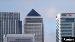 Canary Wharf financial district, east London, Nov. 12, 2014.