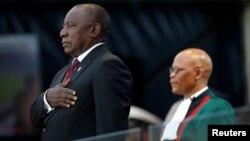 Cyril Ramaphosa toma juramento como presidente de Sudáfrica en el estadio Loftus Versfeld en Pretoria. Mayo 25 de 2019. Foto Reuters.