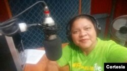 Kathia Reyes, periodista de Radio Darío en Nicaragua.