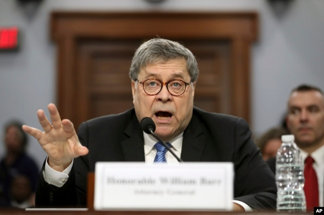 In his first appearance on Capitol Hill since taking office, and amid intense speculation over his review of special counsel Robert Mueller's Russia report, Attorney General William Barr appears before a House Appropriations subcommittee.