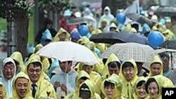 '세계 금연의 날' 서울 시민들의 금연운동 시가 행진.