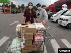 Diana Gutiérrez es una colombiana que, conmovida por la situación de los más necesitados en cuarentena, ha logrado mover a amigos y conocidos para ayudar a los demás.
