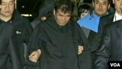 El capitán del transbordador Lee Joon-seok (centro) fue sentenciado a 36 años de cárcel.