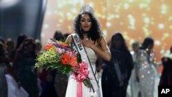 Kara McCullough fue coronada Miss USA 2017 en Las Vegas, Nevada, el domingo, 14 de mayo de 2017.