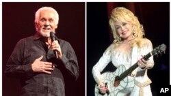 ພາບຂອງສິນລະປິນອາວຸໂສ ເຄັນນີ ຣໍເຈີຣ໌ສ (Kenny Rogers) (ຊ້າຍ) ສະແດງໃນງານສະແດງດົນຕີ ວັນທີ 7 ມີນາ 2013, ໃນເມືອງແລງແຄັສເຕີ, ລັດເພັນຊີລເວເນຍ ແລະສິນລະປິນ ທີ່ຖືວ່າເປັນລາຊີນີລູກທົ່ງ ໂດລລີ ປາຣຕັນ (Dolly Parton) ສະແດງໃນງານ ທີ່ນະຄອນຟີລາແດລເຟຍ, 15 ມິຖຸນາ 2016.