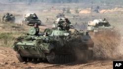 Beloruska vojna vozila tokom vojne vežbe