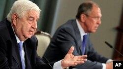 Валид Муаллем и Сергей Лавров