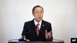 聯合國秘書長潘基文星期三在索契發表演說