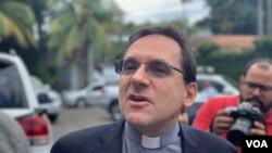 Monseñor Waldelomar Somertag, representante del Vaticano en Nicaragua. Foto: Houston Castillo, VOA.