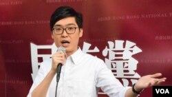 已被特區政府禁止運作的香港民族黨原召集人陳浩天。(美國之音湯惠芸攝)