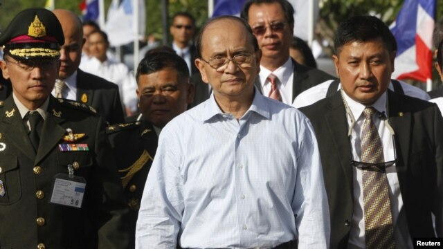 Burma's President Thein Sein (C), July 22, 2012.