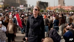 This an undated image of journalist Marie Colvin, who was killed in Syria in 2012, was made available by her employer, the Sunday Times in London.