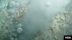 La primera señal de la erupción volcánica submarina fue un sismo de magnitud 4,3, en la estala de Richter que sacudió la isla de El Hierro.
