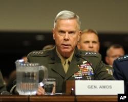 美國海軍陸戰隊司令阿穆斯將軍出席參議院聽證會
