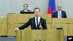 Премьер-министр РФ Дмитрий Медведев. Москва, Россия. 21 апреля 2015 г.