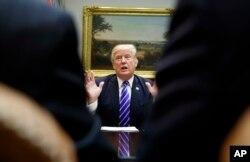 El presidente Donald Trump en la Casa Blanca, el martes 26 de septiembre de 2017.