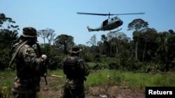 Las fuerzas antinarcóticos en Bolivia realizan un operativo en el Territorio Indígena y Parque Nacional Isiboro Secure, en septiembre de 2017.