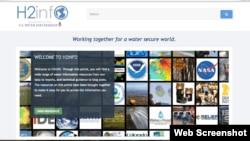 En la imagen, el portal web H2infO.us, lanzado recientemente con información en inglés sobre manejo de agua.