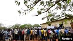 Affluence au bureau de vote de Gorongosa dans le centre du Mozambique, pour les élections municipales