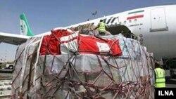 هواپیمای ایرانی حامل کمک های ایران به مردم یمن