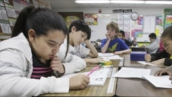 Third-grade students at Hanby Elementary School in Mesquite, Texas. The state of Texas has not adopted the common core standards.